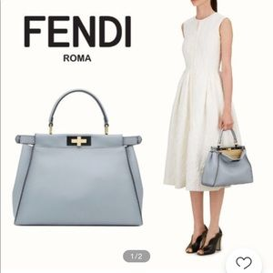 3be4624999 Fendi Bags - Fendi Peekaboo Bag. Light Blue color. Regular size
